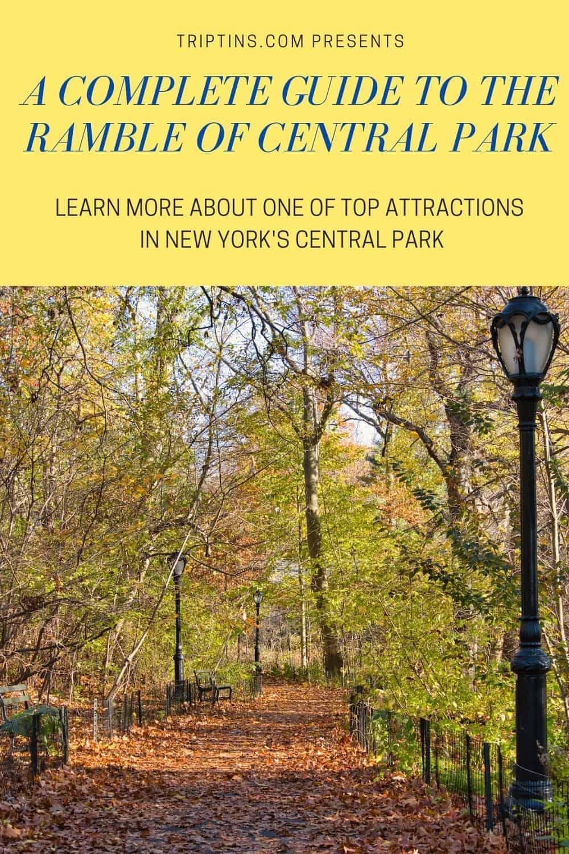Ramble Central Park
