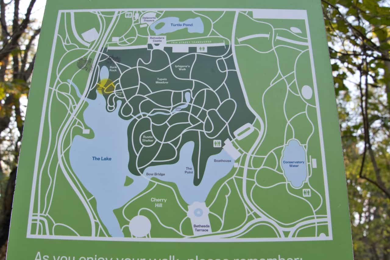 The Ramble Manhattan Map