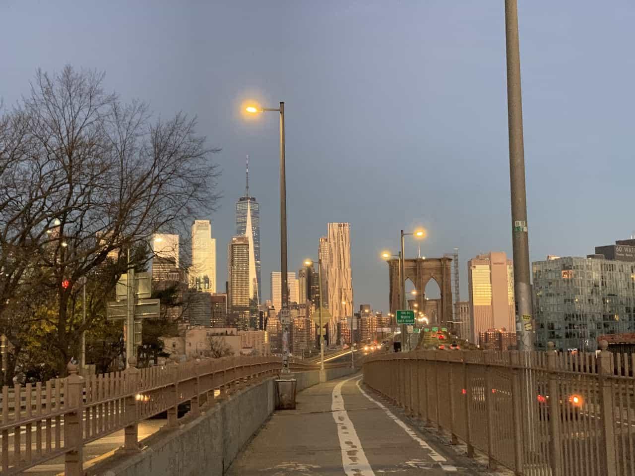 Walking Towards Brooklyn Bridge