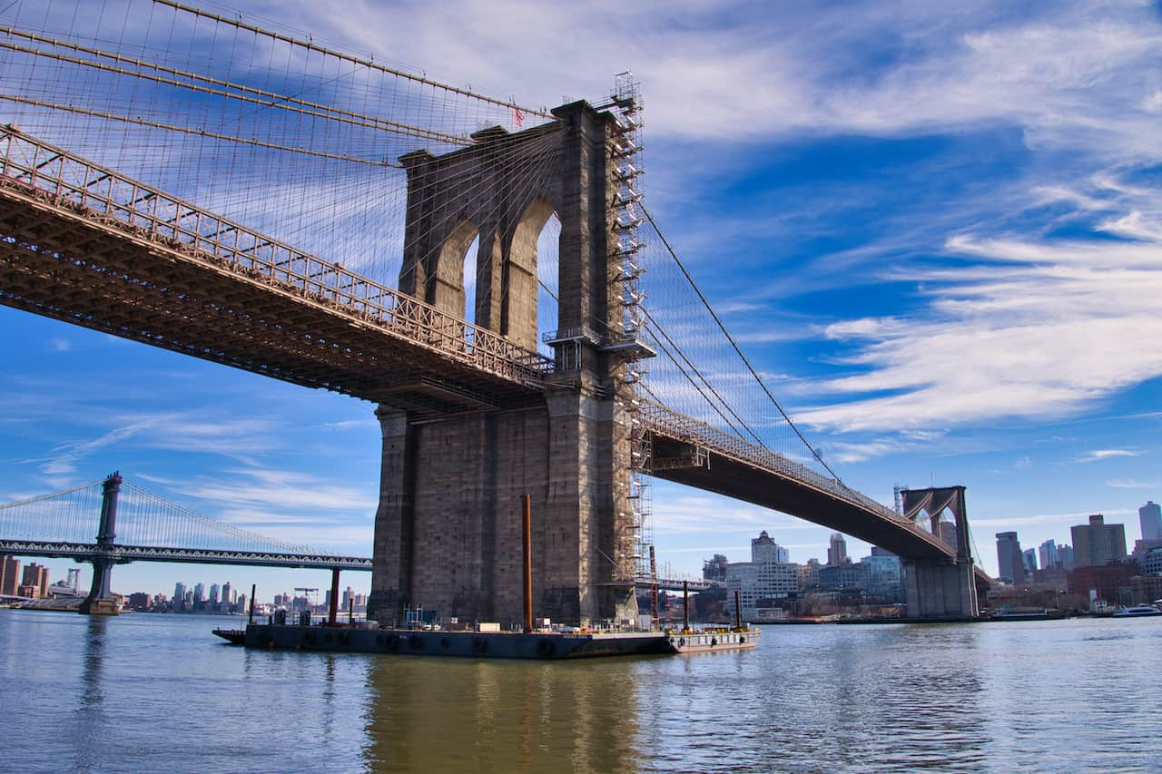 Brooklyn Bridge East River Walk