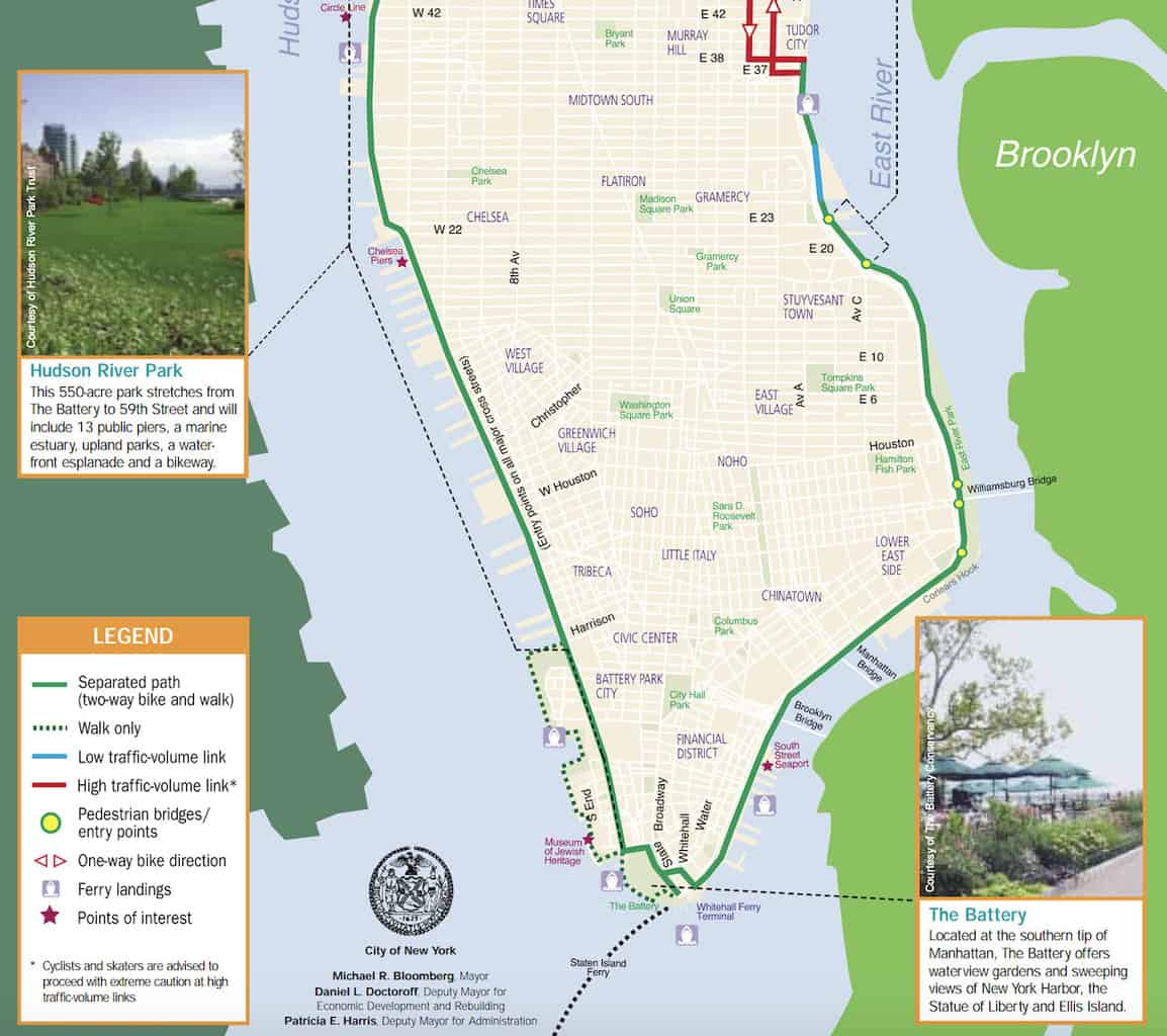 East River Greenway Map