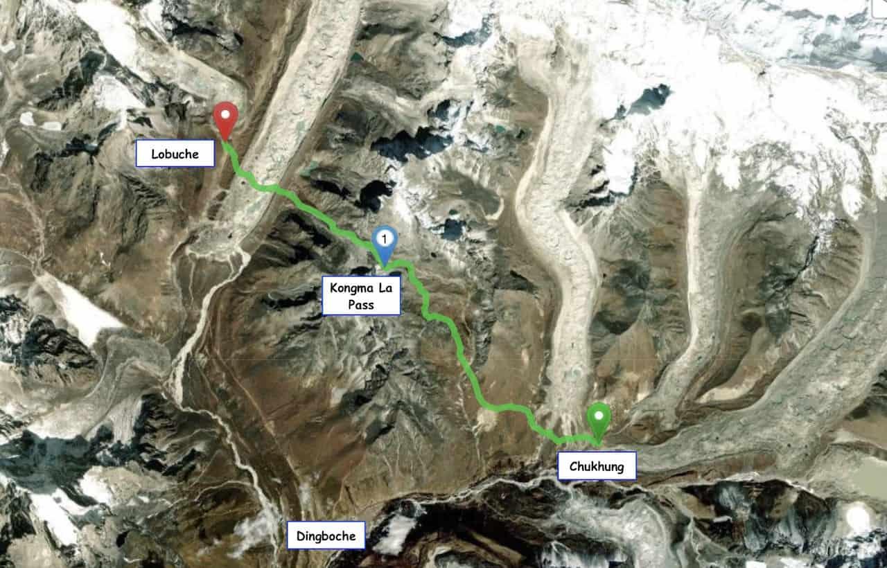 Kongma La Pass Map