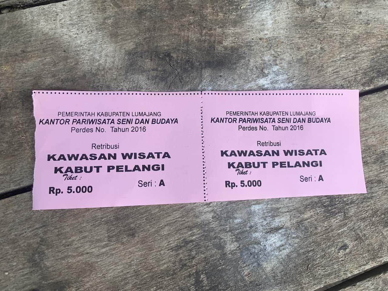 Kabut Pelangi Ticket