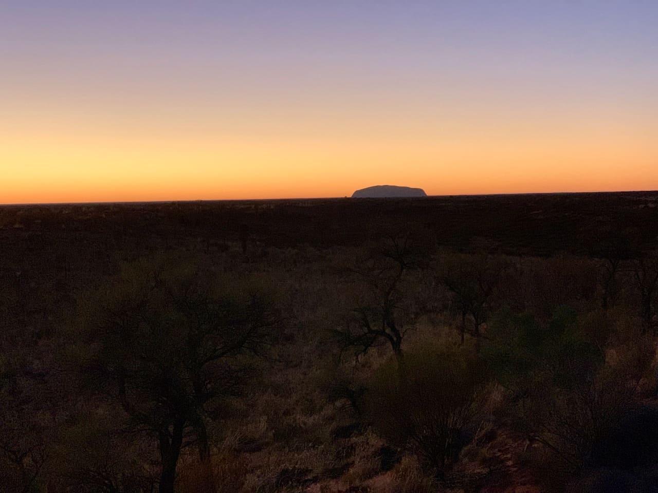 Kata Tjuta Sunrise Over Uluru
