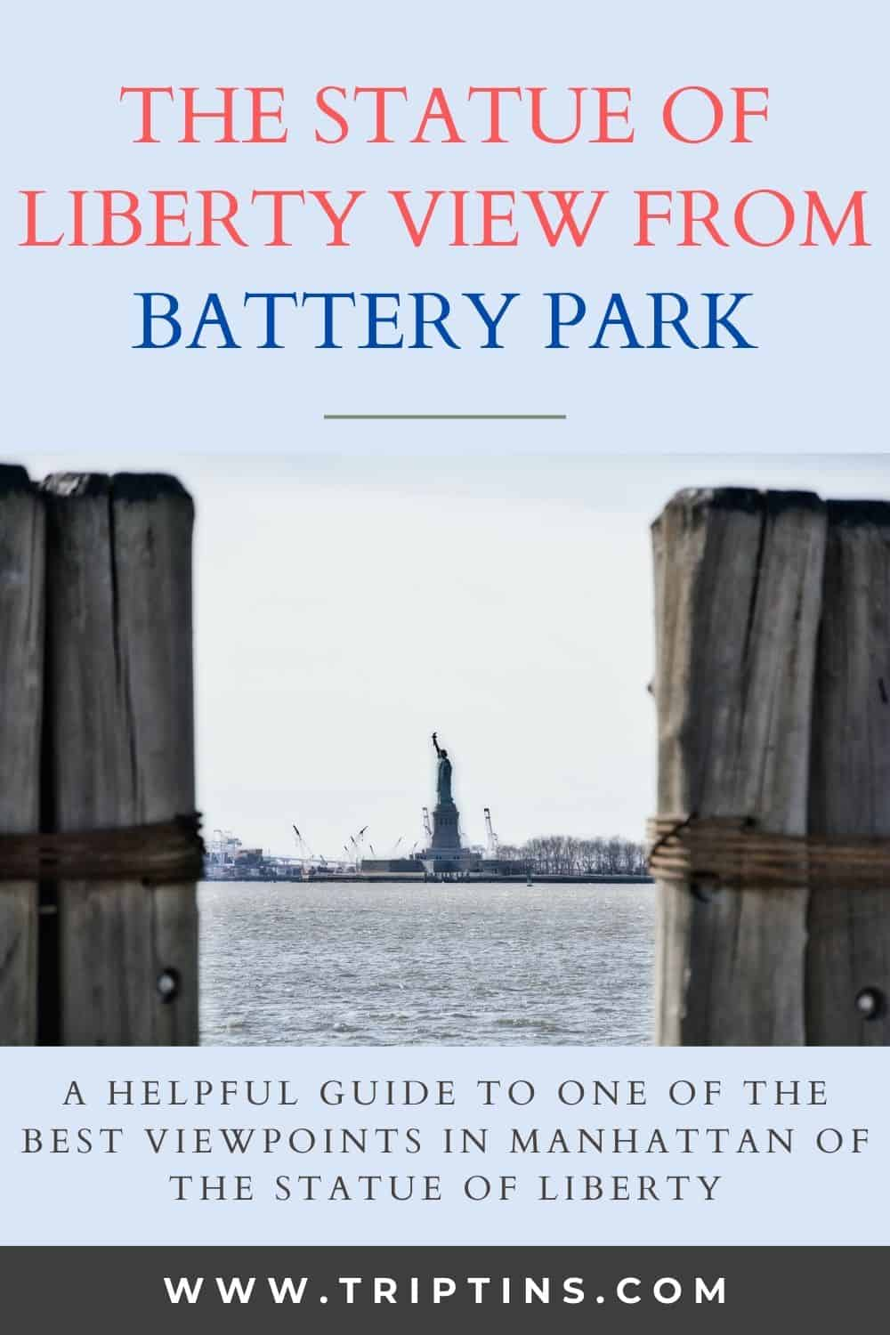 Statue of Liberty Battery Park Viewing Spot