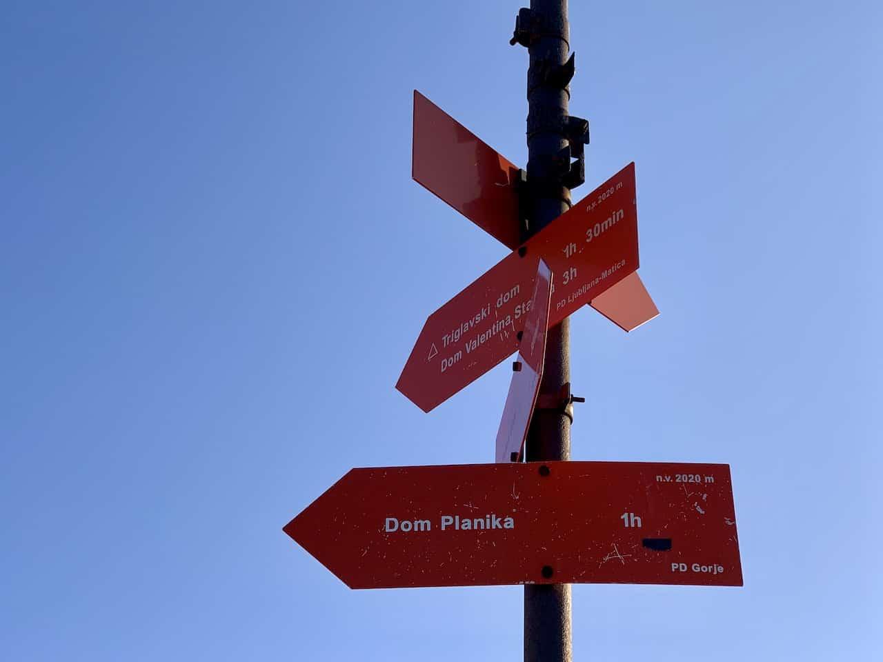 Triglav Trail Signs