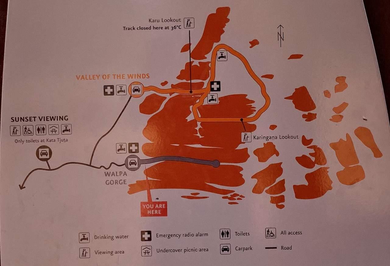 Walpa Gorge Walk Map