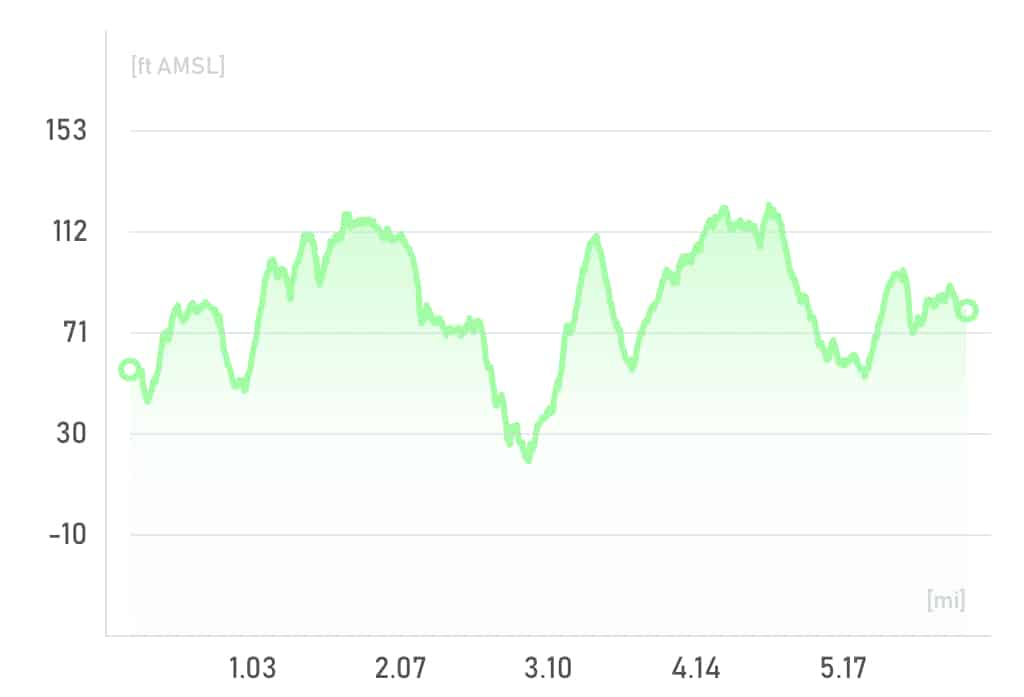 Central Park Loop Elevation and Distance