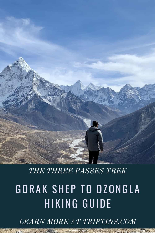 Hiking Gorak Shep to Dzongla