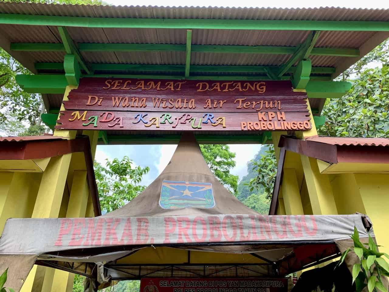 Madakaripura Entrance
