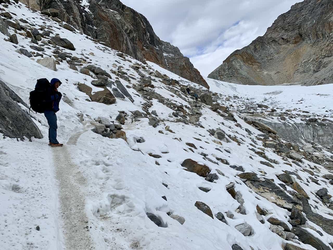 Three Passes Trek Snow