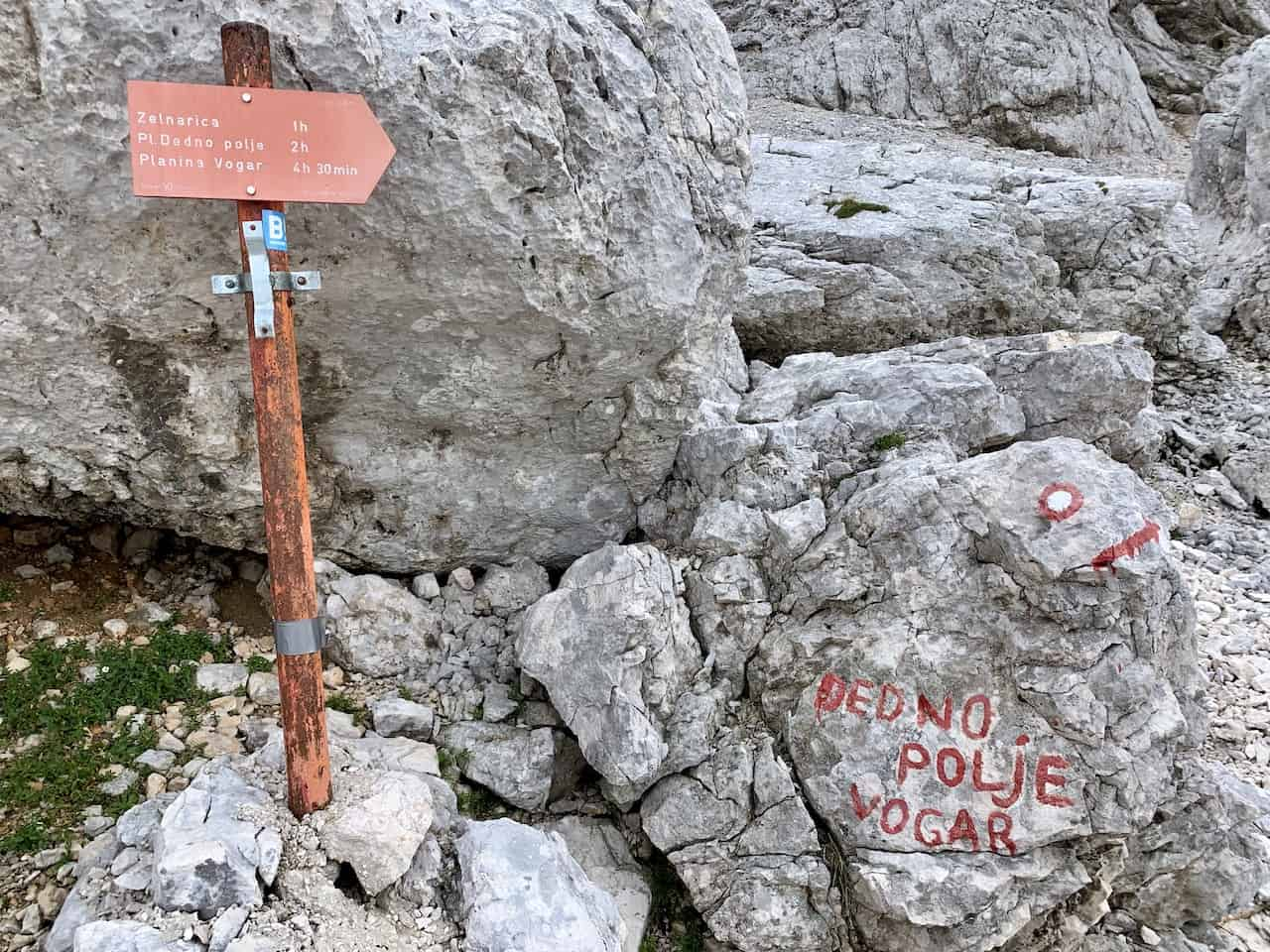 Trail Markers Triglav Lakes
