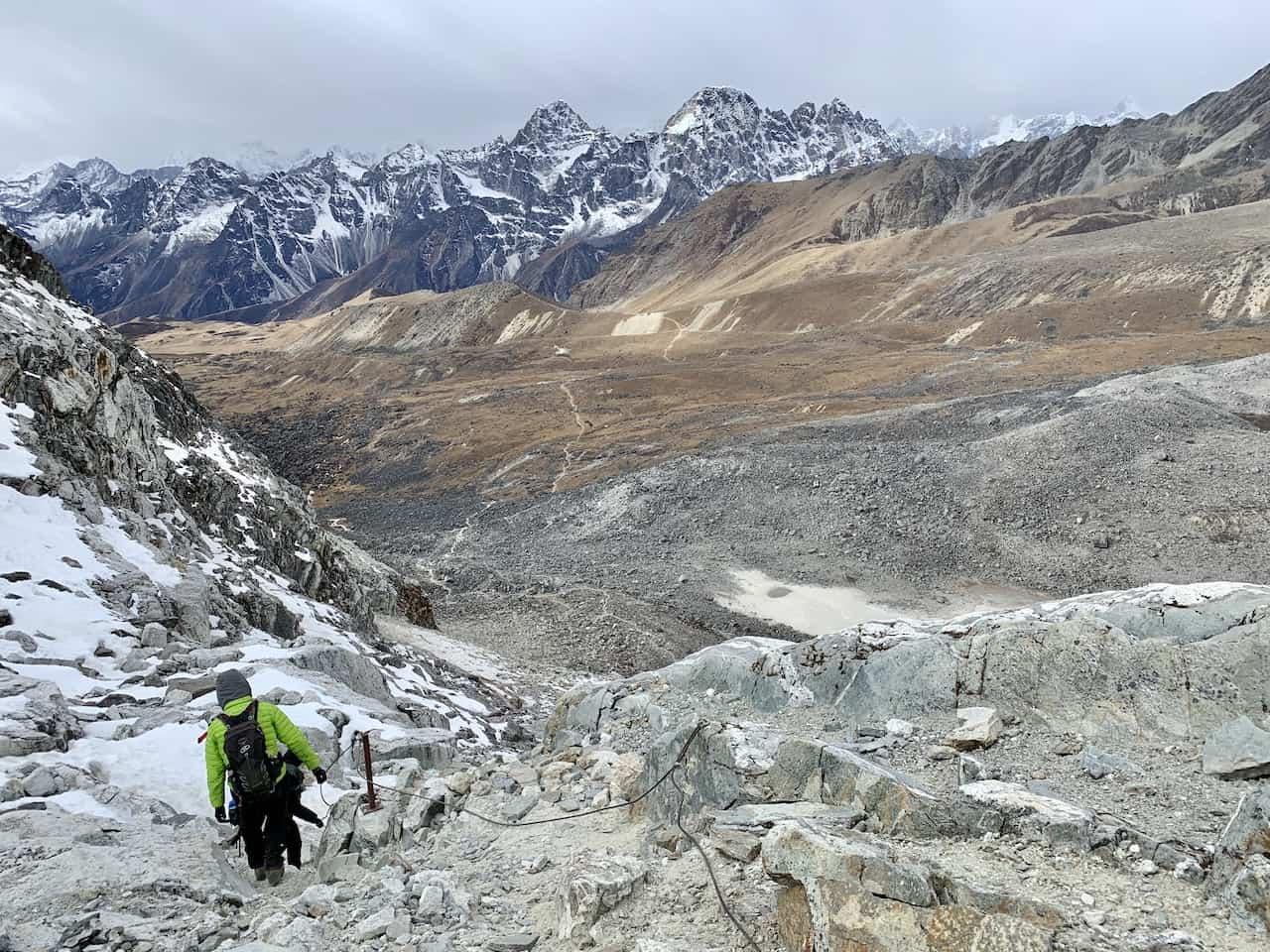 Trek Down Cho La Pass