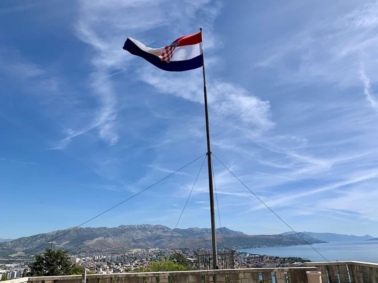 Marjan Hill Croatia Flag