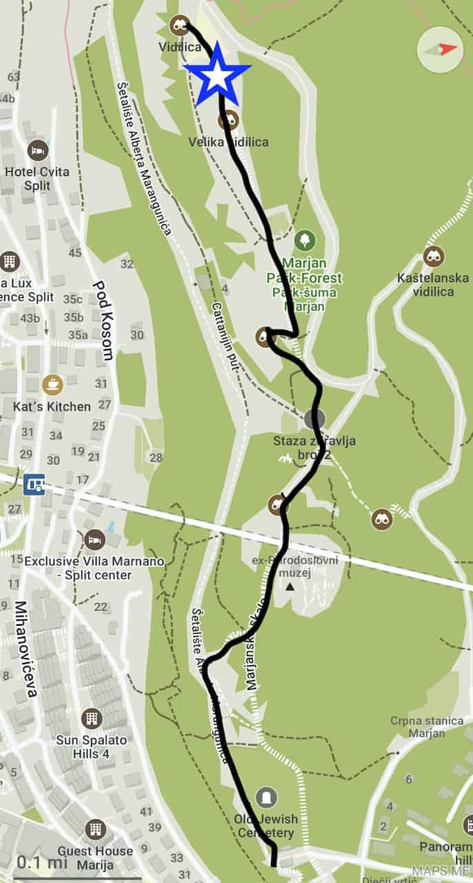 Marjan Hill Map