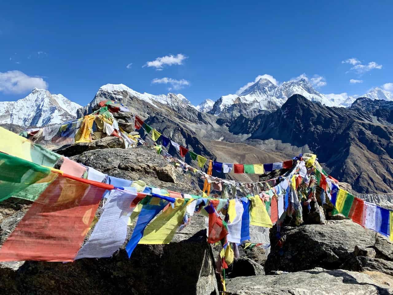 Prayer Flags Himalayas Nepal