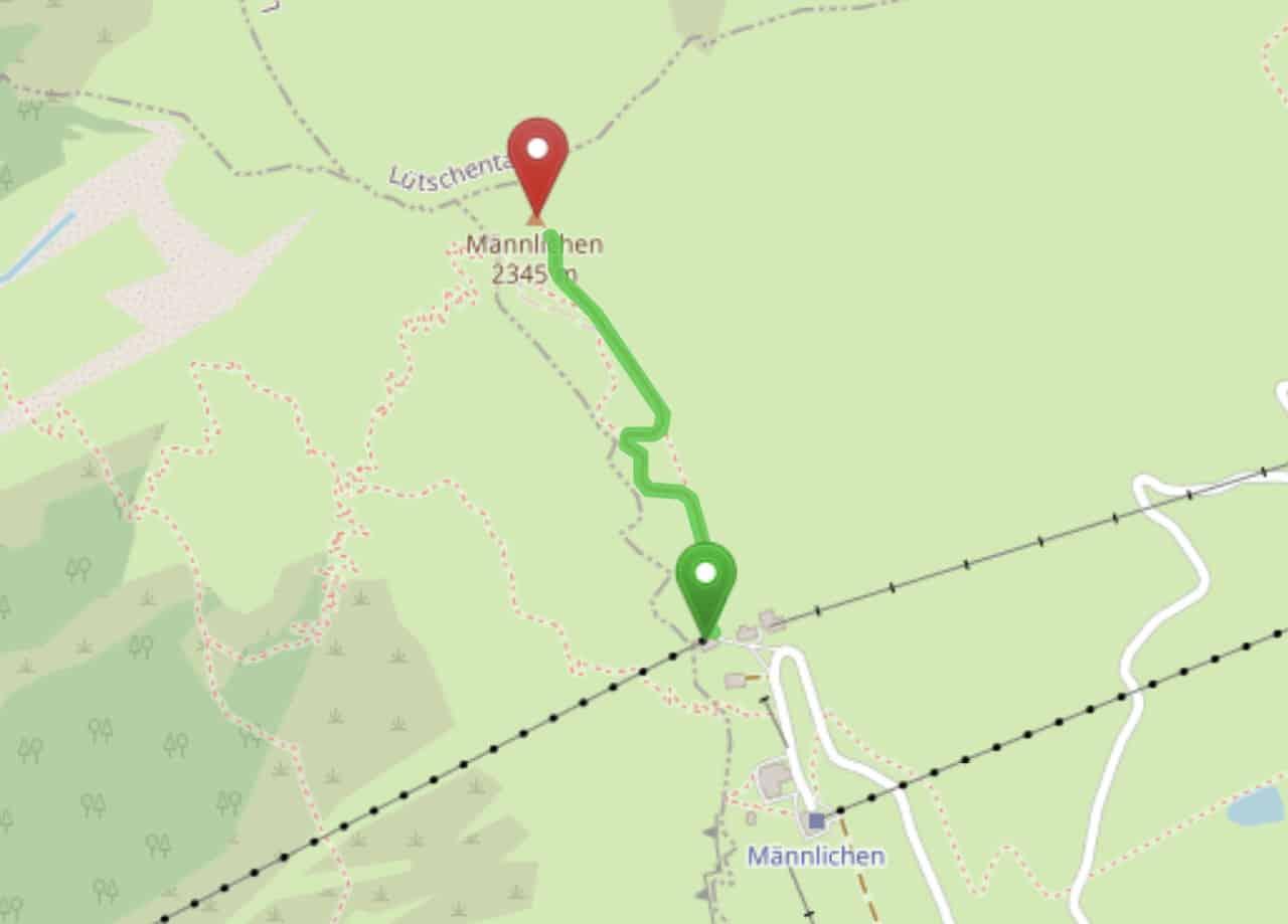 Royal Walk Mannlichen Map