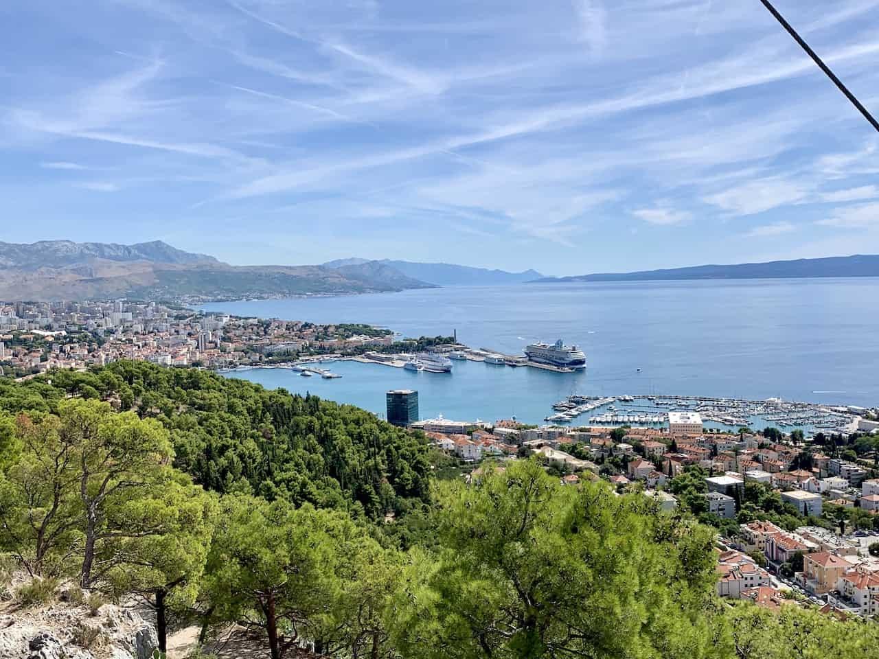 View from Marjan Hill Split