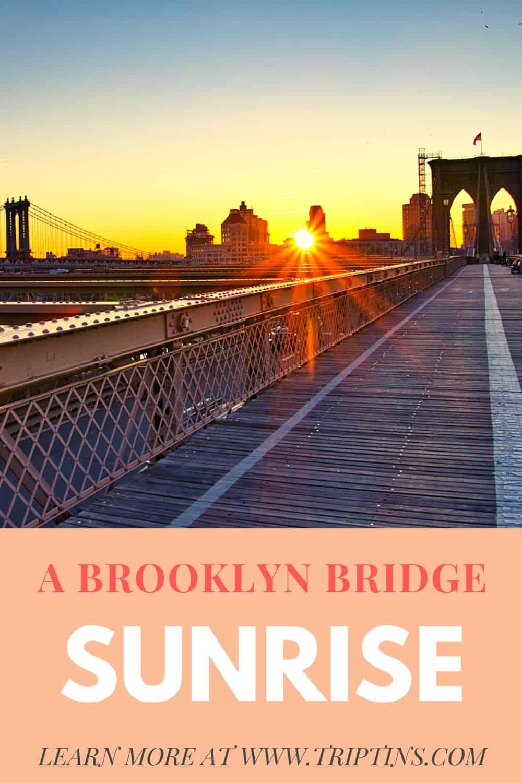 Brooklyn Bridge Sunrise NYC