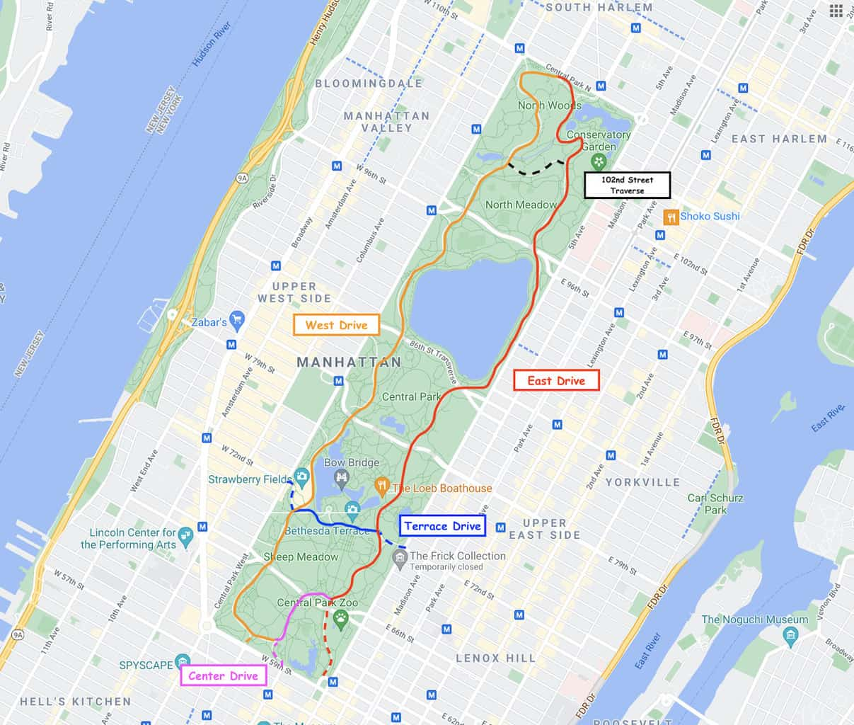 Central Park Running Routes