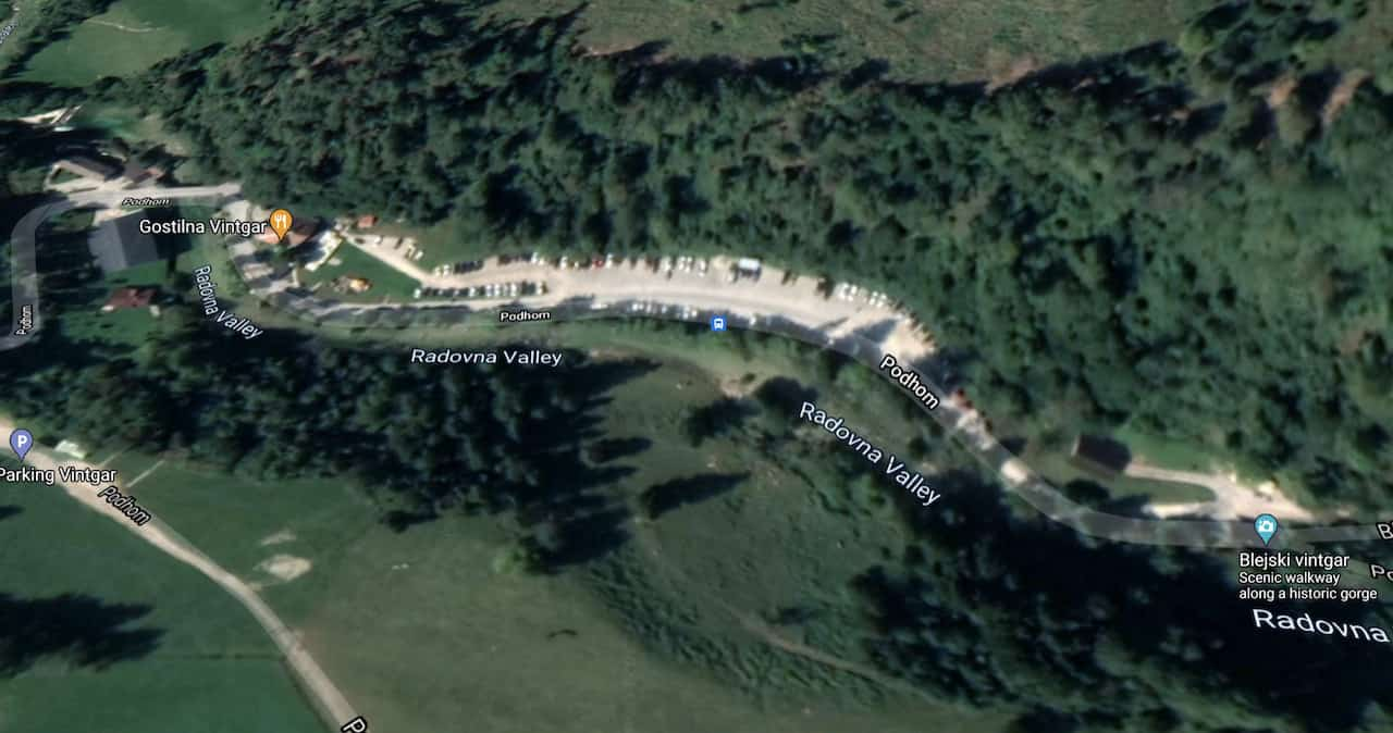 Vintgar Gorge Parking Lot