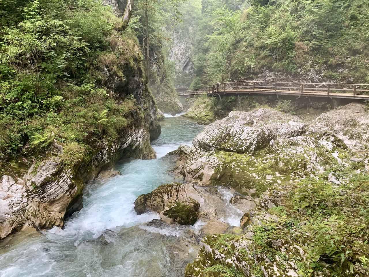 Vintgar Gorge Waterfall