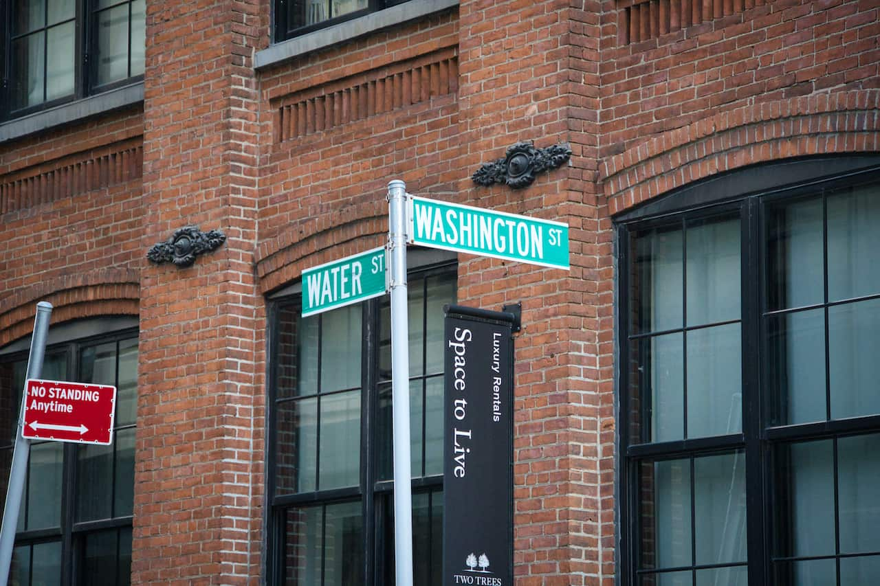 Washington Street and Water Street