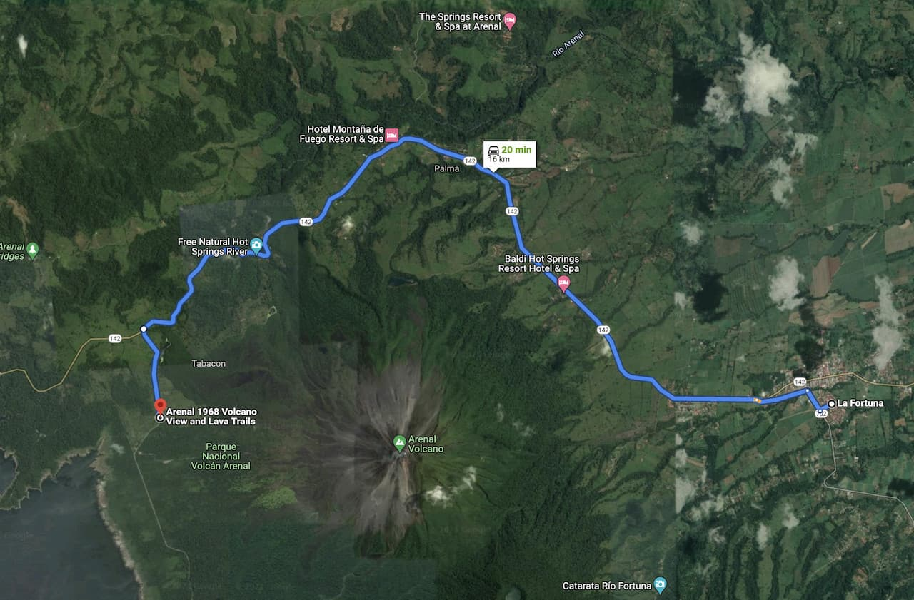 Arenal 1968 Directions