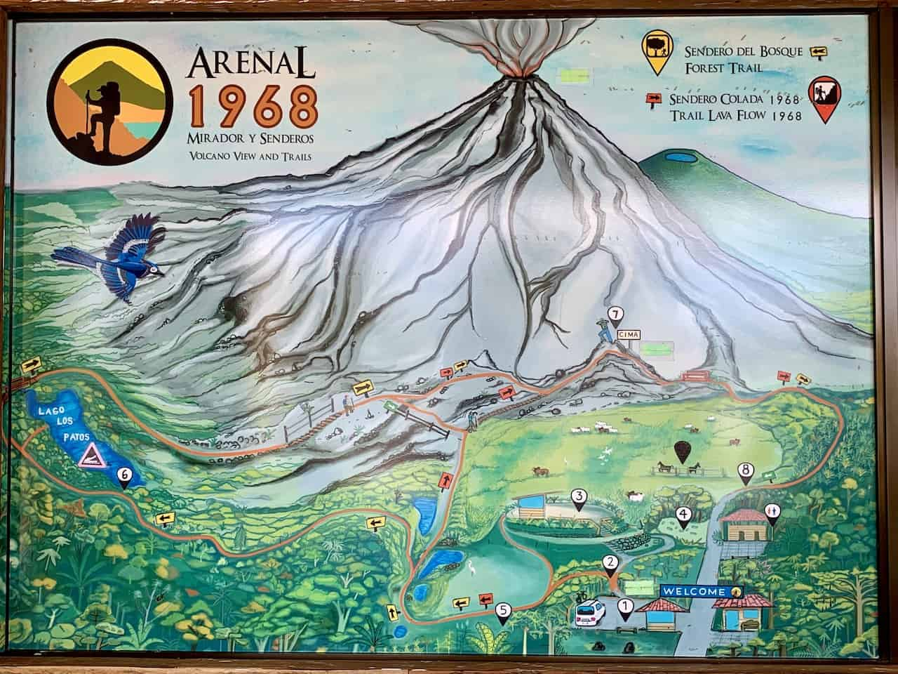 Arenal 1968 Hiking Map