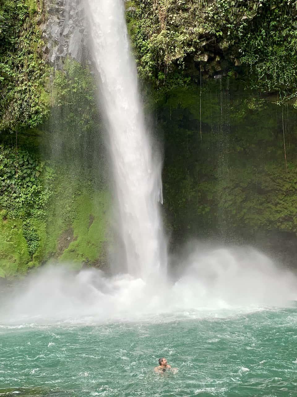 La Fortuna Waterfall Swimming