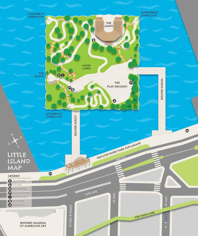 Little Island NYC Map