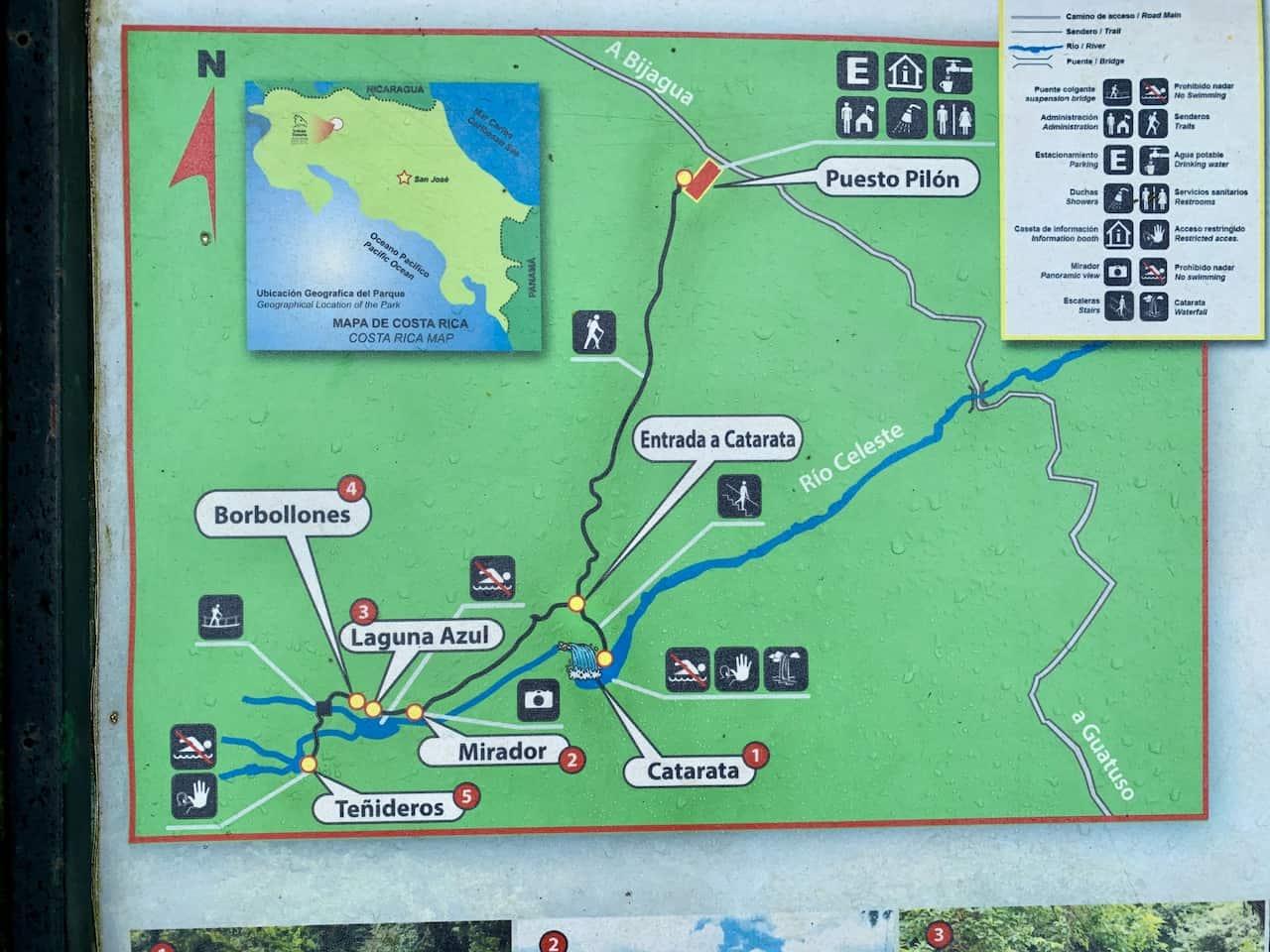 Rio Celeste Map