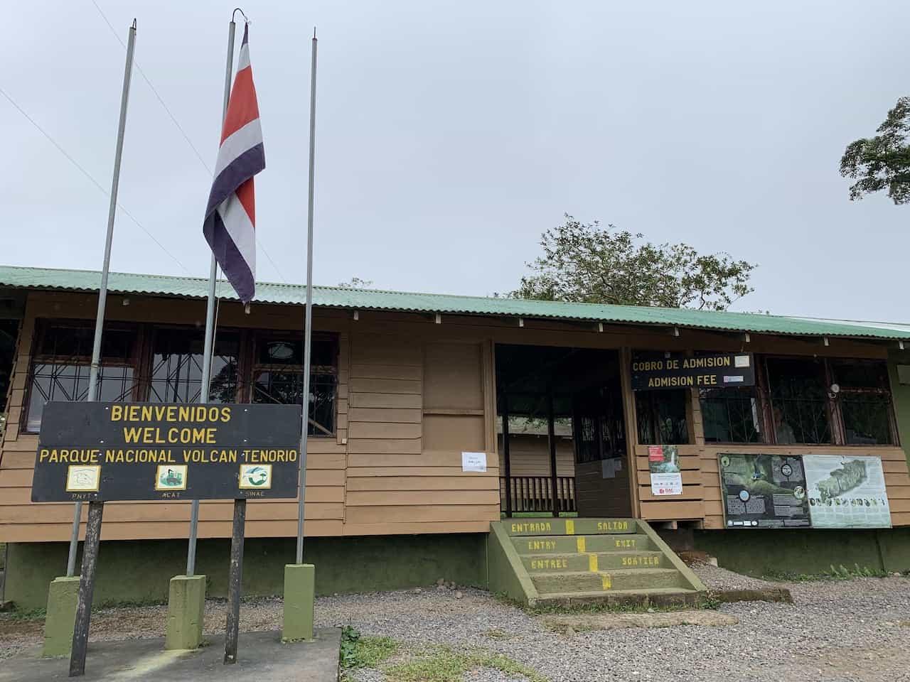 Tenorio Volcano National Park Celeste Entrance